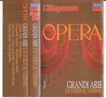 Grandi Arie 3: DA VERDI AL VERISMO - Cassettes Audio