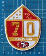 SAN FRANCISCO 49ers 70 YEARS ANNIVERSARY NFL FOOTBALL LOGO PATCH JERSEY EMBROIDE - San Francisco 49ers