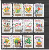 """FRANCE 2016  TIMBRES A GRATTER  """" NON GRATTER """"  SERIE COMPLETE DE 12 TIMBRES AUTAODHESIFS CACHETS RONDS  COTE 18€00 - France"""