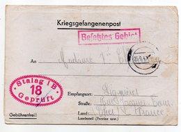 Allemagne-1940---Lettre Censurée Stalag I B-18--Lager-Bezeichnung Pour Lignieres (France)-beaux Cachets - Briefe U. Dokumente