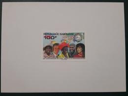 GABON 1999 YT 976 UPU - ALGERIA IN STAMPS - AFRICA MAP - DELUXE PROOF EPREUVE DE LUXE 6 ULTRA RARE - Gabon