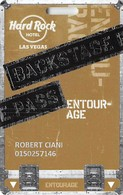 Hard Rock Casino - Las Vegas, NV - Entourage Slot Card - Website Bottom Left Corner - Casino Cards