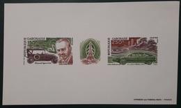 GABON 1978 YT BLOC 29 ANDRE CITROEN CARS ANNIVERSARY TOUR EIFFEL TOWER PARIS  - IMPERF SHEET PROOF EPREUVE NON DENTELE - Gabon