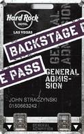Hard Rock Casino - Las Vegas, NV - Slot Card - Website Close To Text - Casino Cards