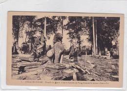 ANGKOR THOM. TEMPLE DU BAYON. LION ET GARUDA SUR NAVA DECORANT LA TERRASSE D'ACCES EST. CAMBODIA CIRCA 1910s- BLEUP - Cambodja