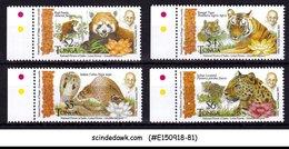 TONGA - 2015 GANDHI AND WILD ANIMALS OF INDIA - 4V - MINT NH - Tonga (1970-...)