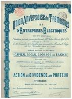 Action Ancienne - Union Anversoise De Tramways Et D'Entreprises Electriques - Titre De 1904 - N° 01158 - Chemin De Fer & Tramway