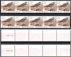 AB0083 - 2 Bandes De 5 Timbres ( Nos.09105 E 09115) - 1985-.. Birds (Buzin)