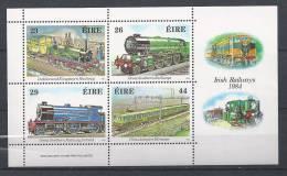 Irlande 1984 Bloc  N°5 Neuf Thème: Chemin De Fer, Trains - Blocs-feuillets
