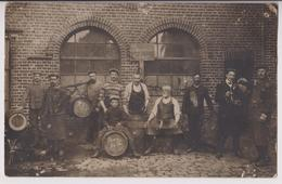 CARTE PHOTO : BRASSERIE DE L'AVENIR - BIERES FORTES - CAVISTES - FUTS ET TONNEAUX DE BIERE - 29 MAI 1909 - 2 SCANS - - Te Identificeren
