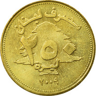 Monnaie, Lebanon, 250 Livres, 2009, TTB, Aluminum-Bronze, KM:36 - Lebanon