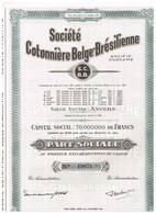 Action Ancienne - Société Cotonnière Belge Brésilienne - Titre De1956 - Industrie
