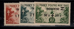 Indochine - YV 296 à 298 N** Gomme Coloniale Cote 2,60 Euros - Indochine (1889-1945)
