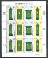Irlande 1998 N°1097/1100 Neufs ** En Feuillet Complet  Boites Aux Lettres - Blocks & Sheetlets