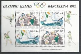 Irlande 1992 Bloc  N°11 Neuf, Sports Boxe Et Voile émis Pour Les JO De Barcelone - Blocs-feuillets