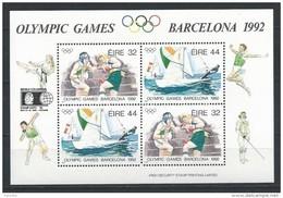 Irlande 1992 Bloc  N°12 Neuf, Sports Boxe Et Voile émis Pour Les JO De Barcelone Avec Surcharge  Expo 92 - Blocs-feuillets