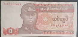 E11g2 Banknotes - Myanmar Pre 1994, 1 Kyat UNC - Myanmar