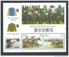 Irlande 1996 Bloc  N°22 Neuf Chine 96 Avec Courses De Chevaux - Blocs-feuillets