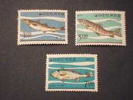 COREA SUD - 1966 PESCI 3 VALORI- NUOVI(++) - Corea Del Sud