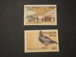 MALDIVES - 1993 TRASPORTI(rf. 5 Uccello) 2 VALORI.- NUOVI(++) - Maldive (1965-...)