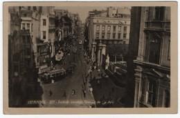 TURKEY/TURQUIE - ISTANBUL VIEW / TRAM / TO CIRCOLO TENNIS PARIOLI-ROMA SIGNED BARTONI UMBERTO - 1948 - Turchia