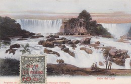 SALTO DE LAJA. CIRCULEE  CIRCA 1900s A PARIS. AUTRES MARQUES. CHILE-RARE-TBE- BLEUP - Chili