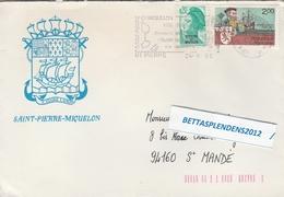 LSC 1986 - Entête ST PIERRE ET MIQUELON Et Flamme - Lettres & Documents