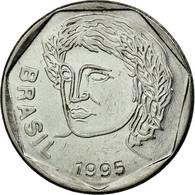 Monnaie, Brésil, 25 Centavos, 1995, TTB, Stainless Steel, KM:634 - Brésil