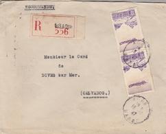 LSC 1947 - Recommandé AGADIR  - YT PA 53 (x2) - Au Dos Cachet Dives Sur Mer (Calvados) - Briefe U. Dokumente