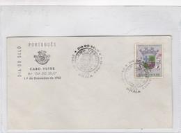 CABO VERDE. DIA DO SELO. SPECIAL COVER YEAR ANO 1962- BLEUP - Cap Vert