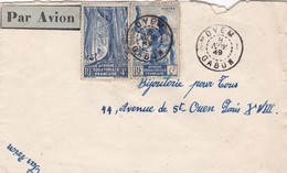 ENVELOPPE CIRCULEE 1949 GABON (AFRIQUE ECUATORIALE FRANÇAISE), TO PARIS- BLEUP - A.E.F. (1936-1958)