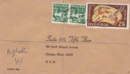 ENVELOPPE CIRCULEE 1967 NIGUERIA TO USA. STAMP A PAIR- BLEUP - Niger (1960-...)