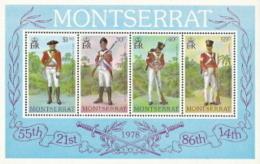 Montserrat,  Scott 2017 # 396a,  Issued 1978,  S/S Of 4,  MNH,  Cat $ 2.10,  Military - Montserrat