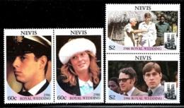 "Nevis     ""Royal Wedding""     Set    SC# 498-99    (2 Pair)        MNH - St.Kitts And Nevis ( 1983-...)"