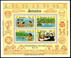 Jamaica 1991 Discovery Of Columbus Souvenir Sheet Unmounted Mint. - Jamaica (1962-...)