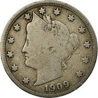 Monnaie, États-Unis, Liberty Nickel, 5 Cents, 1909, U.S. Mint, Philadelphie - Federal Issues