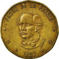 Monnaie, Dominican Republic, Peso, 1993, TB+, Laiton, KM:80.2 - Dominicaine