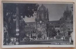 BOMBAY, INDIA - Victoria Terminus - Chhatrapati Shivaji Railway Station  NV - India