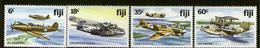 FIJI, 1976 WW2 PLANES 4 MNH - Fiji (1970-...)