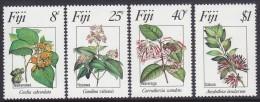 FIJI, 1983 FLOWERS 4 MNH - Fiji (1970-...)