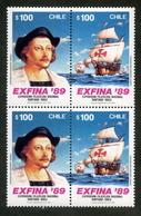 """CHILE ESTAMPILLAS 1989; """"EXFINA`89"""". - Chile"""