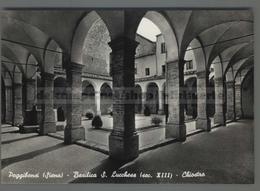 V7186 POGGIBONSI BASILICA S. LUCCHESE CHIOSTRO (m) - Altre Città