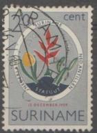 SURINAM - 1959 Constitution - Flowers. Scott 276. Used - Surinam ... - 1975
