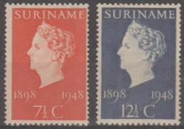 SURINAM - 1948 Queen Wilhelmina. Scott 2340235. MNH ** - Surinam ... - 1975