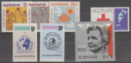 SURINAM - Four 1973 MNH Sets. Scott 402-407, B197 - Surinam ... - 1975