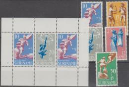 SURINAM - 1969 Child Welfare Set And Souvenir Sheet. Scott B157-161, B139a. MNH ** - Surinam ... - 1975