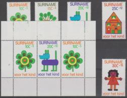 SURINAM - 1973 Child Welfare Set And Souvenir Sheet. Scott B198-202a. MNH ** - Surinam ... - 1975