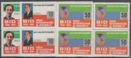 ECUADOR - 1986 Development Bank Blocks Of Four. Scott 1123-1125`. MNH ** - Equateur