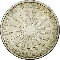 Monnaie, République Fédérale Allemande, 10 Mark, 1972, Hamburg, TTB, Argent - [ 7] 1949-…: BRD