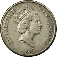 Monnaie, Nouvelle-Zélande, Elizabeth II, 5 Cents, 1989, TTB, Copper-nickel - Nouvelle-Zélande
